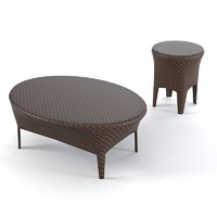 Dedon tango coffee table  set